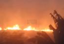 Fogo em matagal assusta moradores de Santa Paula