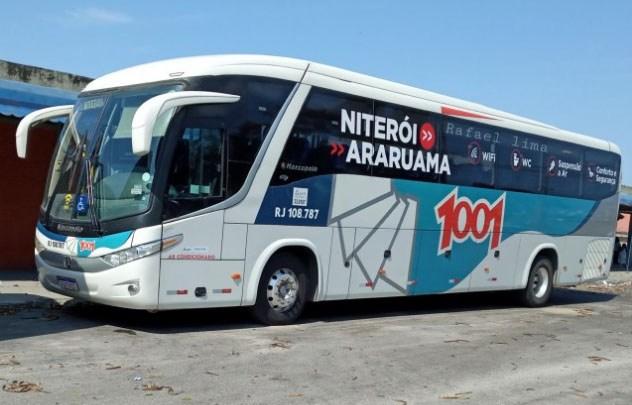 Maricá: Criminosos assaltam dois ônibus da Viação 1001 na RJ-106